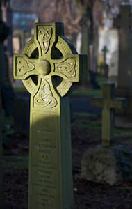 Head Stone in Dean Cemetery