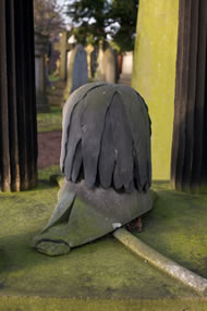 Carved Naval Hat on Head Stone